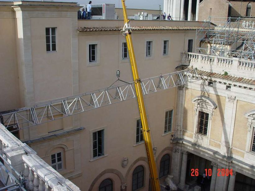 Copertura cortile interno dei Musei Capitolini / work in progress